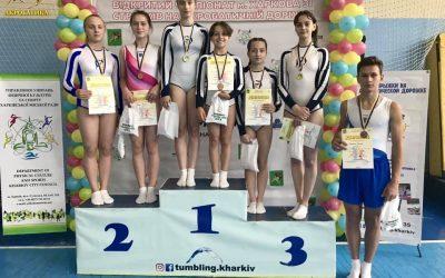 Открытый чемпионат города Харькова по прыжкам на акробатической дорожке
